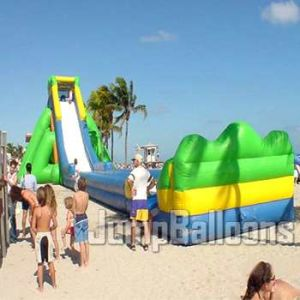 50m Long Inflatable Slide Hippo with Wooden Stairs (B4039) pictures & photos