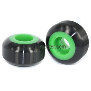 Black Skateboard Wheel With Green Core