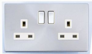 Screwless Range Double Switched Socket pictures & photos