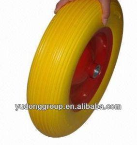 16 Inch Sale PU Polyurethane Foam Wheelbarrow Tire /Rubber Wheel 4.00-8 pictures & photos