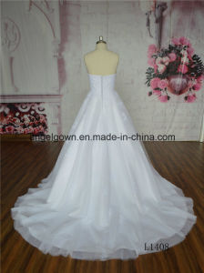 White Long Ball Gown Wedding Dress pictures & photos