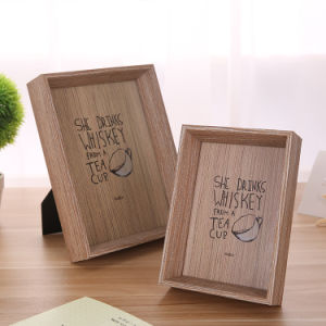 Solid Wood Picture Frame 6-Inch Natural Handmade Photo Frame pictures & photos