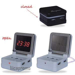 USB Hub With Magic Alarm Clock (LP2112)