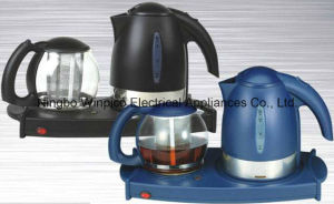 Electric Tea Tray with 1.7L Kettle, 1.4L Tea Pot