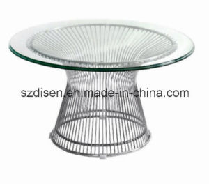Round Coffee Table with Stainless Steel and Glass (DS-CT44) pictures & photos