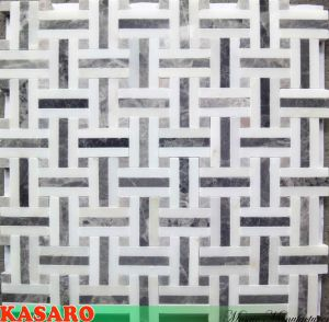 Polished Marble Mosaic Tile Decorative Indoor Stone Wall Tiles (KSL135050)