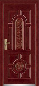 Steel Wooden Armored Door / Steel Wood Security Door (YF-G9001) pictures & photos