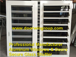Powder Coating White Color Aluminum Secure Louver Shutter Window pictures & photos