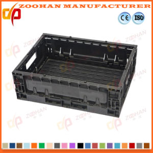 New Foldable Plastic Turnover Basket for Supermarket (ZHTB24) pictures & photos