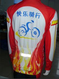 100% Polyester Customized Long Sleeve Cycling Jersey (TC055)