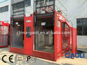 Single Cage Safety Electric Freight Construction Elevator / Lifting Equipment pictures & photos