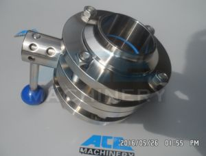 Stainless Steel Three-Way Thread Butterfly Valve (ACE-DF-2C) pictures & photos