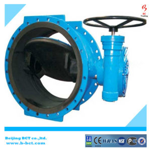 Rubber Liner Cast Iron Double Flanged Double Eccentric Butterfly Valve Bct-E-Rbfv09 pictures & photos
