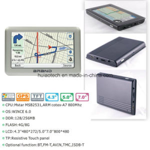 New Metal Housing 4.3inch GPS Navigation Pnd Portablet GPS Navigator with Arm Cortex A7, Wince 6.0; 2016 GPS Map Internal Speed Camera, Rear Parking Camera pictures & photos