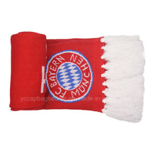 Custom Design Acrylic Football Soccer Fans Scarf pictures & photos