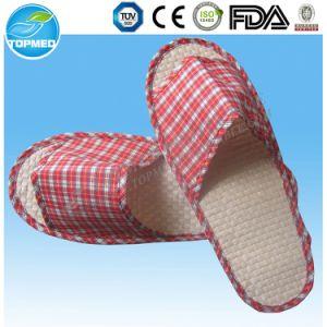 Custom Logo Open Toe EVA Cheap Velour Hotel Slippers pictures & photos