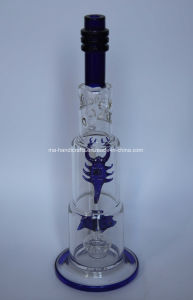 "16"" Ice Pinches Glass Water Hookah Pipes with Fish-Scorpion pictures & photos"