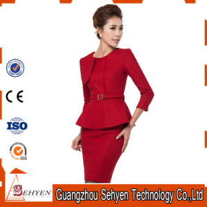 Wool Formal Office Women Jacket Skirt Business Suits for Ladies pictures & photos