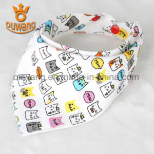 Wholesale Custom Lovely Baby Bandana Drool Bib 100% Cotton pictures & photos