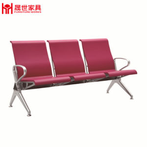 High Quality 3 Seat Full PU Padded Airport/Hospital/Station Bench Chair Waiting Area 01 pictures & photos