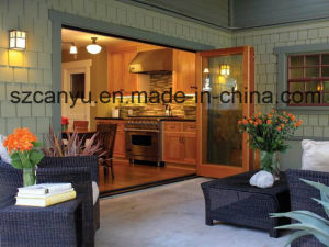 Heat-Insulated Wood Package Aluminum Doors pictures & photos