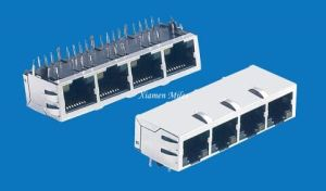 RJ45 Connector Network Jack 5j Four Ports Modular Jack pictures & photos