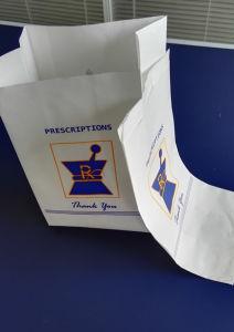 Kraft Pharmacy Prescription Bag, X-Large Square Bottom pictures & photos