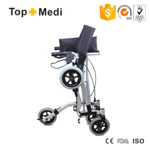 Topmedi High End Foldable Aluminum Disability Rollator Walker Shopping Cart pictures & photos