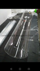 Od315 Quartz Flange Tube with One End Round Closed pictures & photos