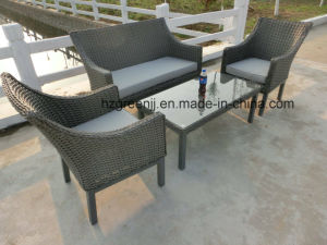 Half Moon Curve Flat Wicker Furniture pictures & photos
