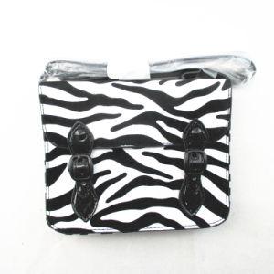 Zebra-Stripe Print Messenger Kids PU Bag pictures & photos