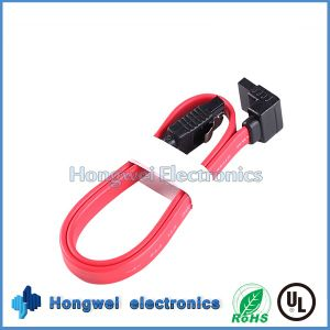 PVC Flat 90 Degrees SATA a Serial Port Hard Disk Data Cable pictures & photos