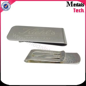 High Quality Metal Diamont Silver Money Clips with Customized Logo pictures & photos