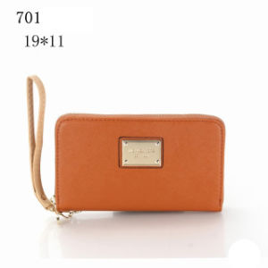 Lady Woman Zipper Clutch Leather Wallet pictures & photos