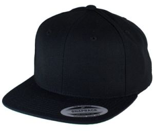 Canvas Cotton Twill Black Snapback Cap pictures & photos