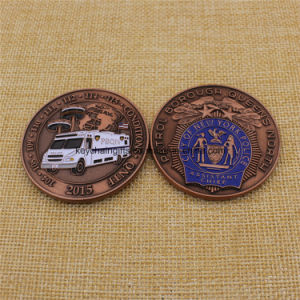 Custom Metal Enamel City of New York Police Coin on Sale pictures & photos