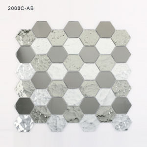 Crystal Silver Wall Decoration Tiles Glass Mosaic for Bathroom Backsplash pictures & photos