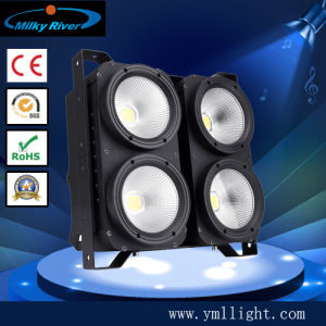 Stage Professional Four Big Eye Audience COB Cool White+Warm White High Powered 4*100W COB LED Audience Blinder Light pictures & photos