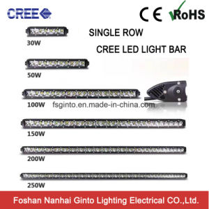 50W 12.5inch CREE Single Row Slim LED Light Bar (GT3510-50W) pictures & photos