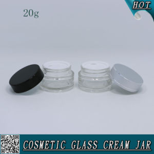 20ml Cosmetic Transparent Glass Jar for Face Cream pictures & photos