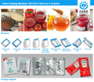 Factory Price Automatic Tomato Sauce Sachet Paste Packaging Machine pictures & photos