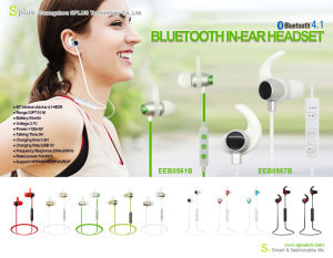 Popular Wireless Earphones for Mobile Phones V4.1 with Speaker pictures & photos