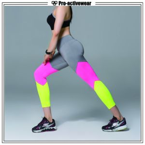 (Free Sample) OEM Custom Women Fitness Compression Workout Lycra Yoga Pants pictures & photos