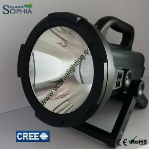 New Rechargeable 30W LED Spotlight Flashlight 22000mAh Lithium 1500m Range pictures & photos