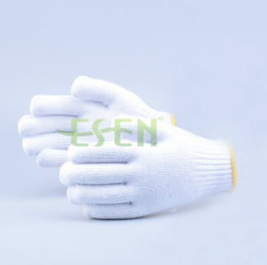 Knitted Cotton Gloves for Construction Work, Cotton Gloves for Industrial Worker (K10-B5-9) pictures & photos