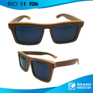 Top Selling Square Frame Personal Polarized Wooden Sunglasses pictures & photos