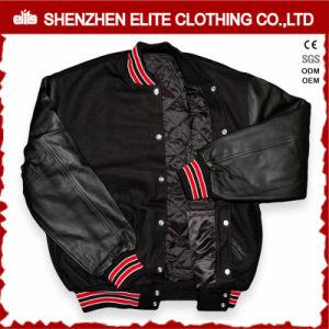 Custom Made Sheepskin Black Quilted Bomber Jacket Mens (ELTBQJ-529) pictures & photos