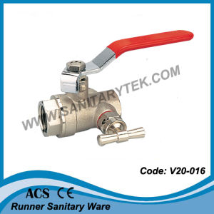 Water Ball Valve with Drain Valve (V20-016202) pictures & photos
