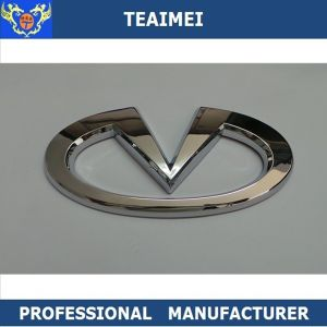 Auto ABS Plastic Custom Logo Chrome Steering Wheel Emblem