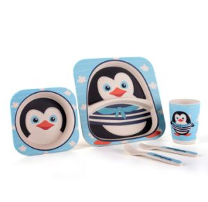 BPA Free Eco Bamboo Fiber Kids Dinnerware Set pictures & photos